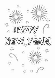 Neujahrskarten Ausdrucken Und Ausmalen Kostenlose