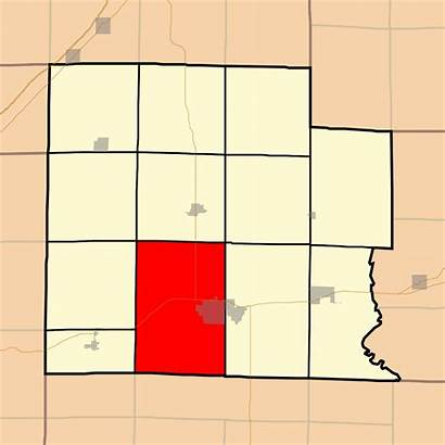 Clay County Illinois Svg Township Harter Highlighting