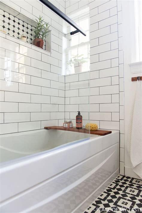 white subway tile bathroom ideas  pinterest