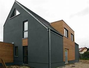 Haus Mit Holzfassade : einfamilienhaus modern holzhaus satteldach flachdach mit gaube holzfassade efficiento ~ Markanthonyermac.com Haus und Dekorationen