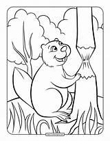 Beaver Coloring Printable Whatsapp Tweet sketch template