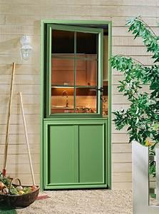 porte d39entree semi vitree en aluminium fermiere fpee With porte d entrée fermière