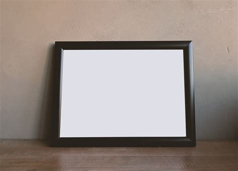Photo Frames On Wall Brown Wooden Rectangular Photo Frame 183 Free Stock Photo
