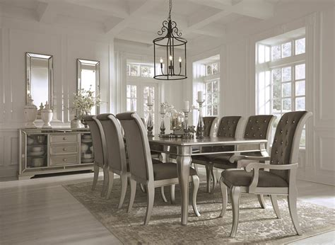 Birlanny Silver Rectangular Extendable Dining Room Set