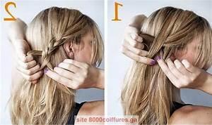 Coiffure Mariage Facile Cheveux Mi Long : tuto coiffure cheveux mi long simple et rapide ~ Nature-et-papiers.com Idées de Décoration