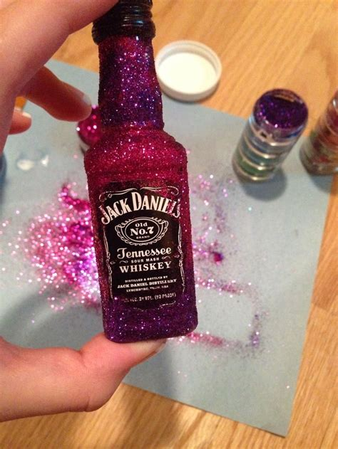 glitter alcohol bottles projects st bday ideas