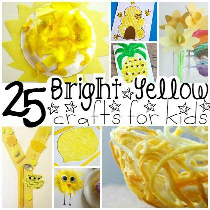 25 bright yellow crafts for preschoolers 858 | y is for yellow