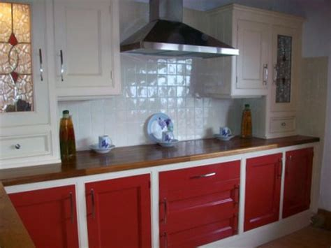 Ex display Hand Crafted Red And Cream Kitchen With Solid