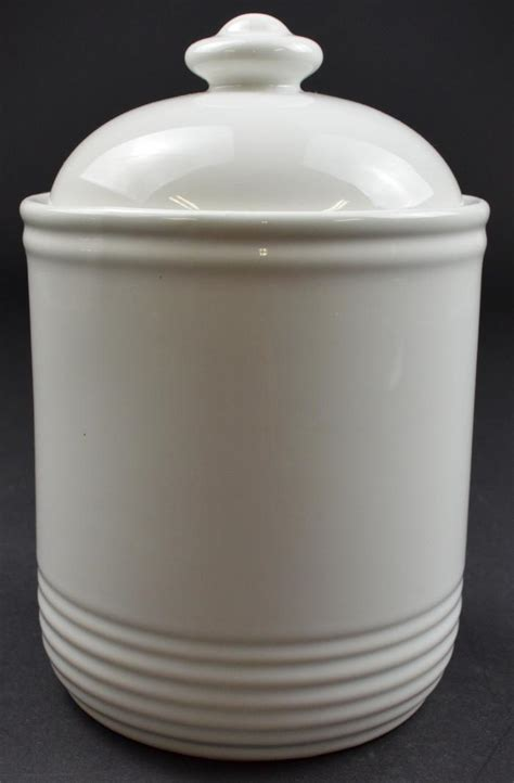 white kitchen canisters vintage white ceramic multipurpose canister with sealing