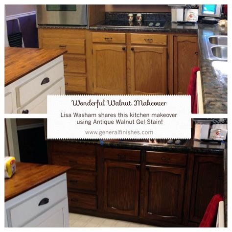 General Finishes Antique Walnut Gel Stain helped Lisa