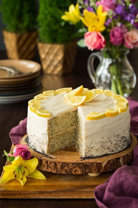 lemon poppy seed cake  cream cheese frosting cooking