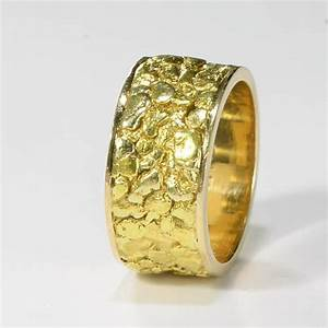 vintage nugget eternity ring wedding band 14 k yellow With gold nugget wedding rings