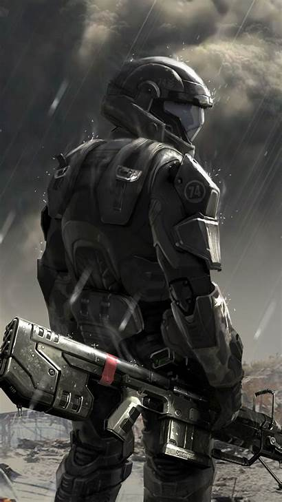 Halo Soldier Concept Phone Wallpapers Odst Htc