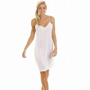 New ladies camille lingerie sexy full slip womens classic for Fond de robe noir etam
