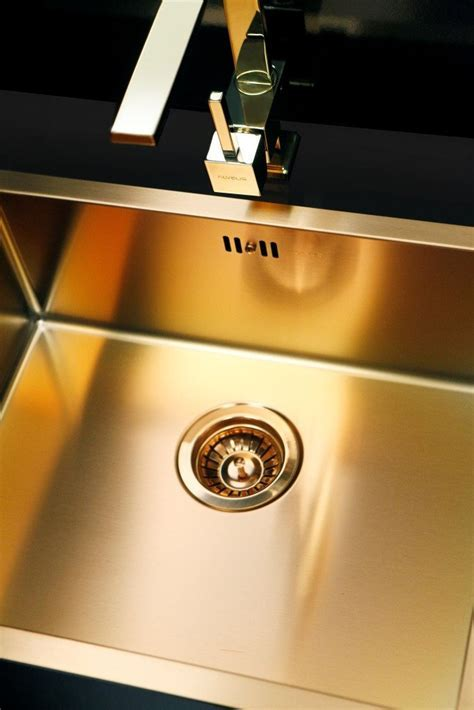 Bronze / Brass finish kitchen sink, flush mount   Alveus