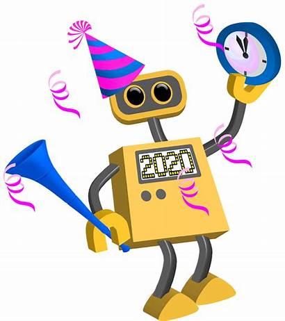 Happy Robot 2021 Cartoon 2024 2026 Technology