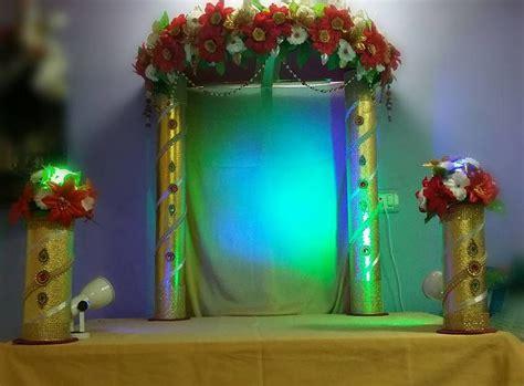 Ganapati Decoration Ideas - ganpati decoration ideas pooja room and rangoli designs