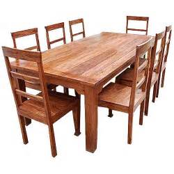 wood dining room sets rustic furniture solid wood dining table chair set