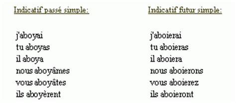 ranger au passe simple conjugaison du verbe aboyer
