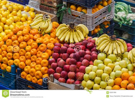 bazar cuisine vegetables and fruits in food stall of bazaar