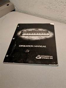 Sequential Circuits Prophet 600 Original Owner U0026 39 S Manual
