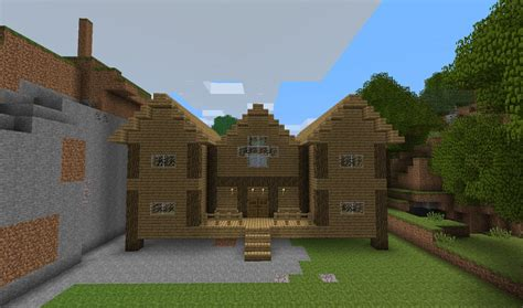 Wooden House In Minecraft - 1st wood house minecraft project