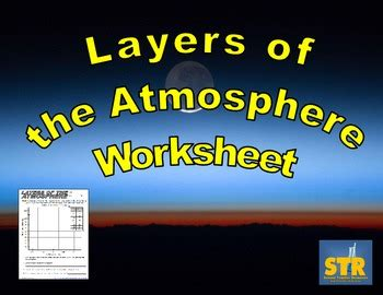 layers   atmosphere worksheet  science teacher