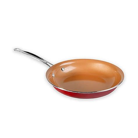 buy red copper   fry pan  bed bath