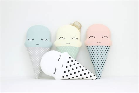 Babybee Kid Pillow Pink mister pillow icecream cushion nursery decor