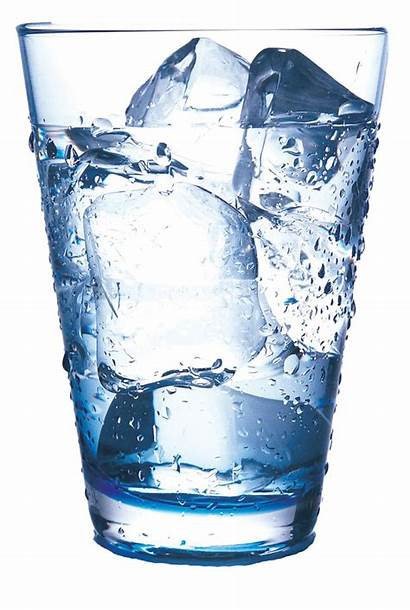 Ice Water Glass Transparent