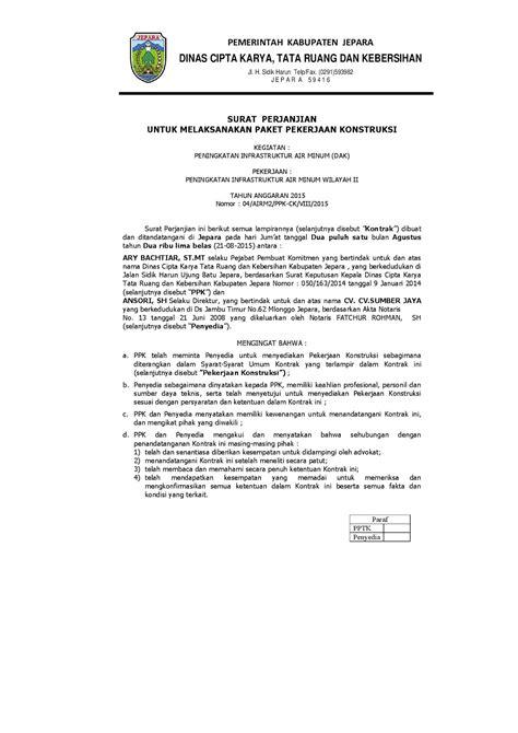 Andrea Lorensa: Pranata Hukum Pembangunan dan Surat Kontrak Kerja