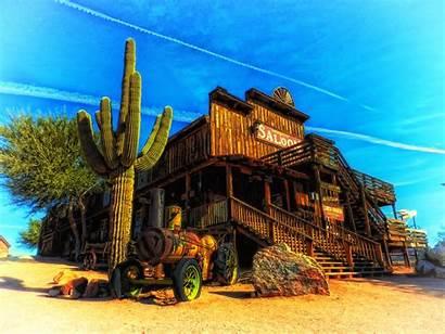 Western Arizona Saloon Cactus Wallpapers Landscape Hdr