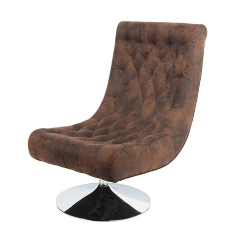 canapé microfibre vieilli fauteuil capitonné en microfibre marron bossley maisons