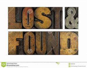 Lost And Found Royalty Free Stock Images - Image: 38685969
