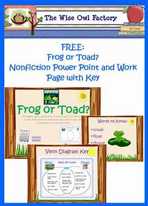 Free Resources For Frog Or Toad