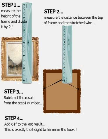 best height to hang pictures on wall home decor