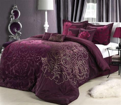 8pc plum purple oversized floral comforter set queen king