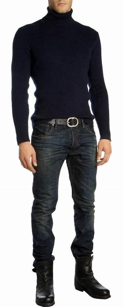 Mens Jeans Casual Turtleneck Boots Ralph Lauren