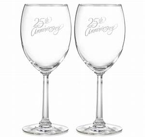 25th anniversary wine glasses With 25th wedding anniversary glasses