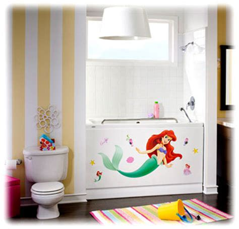 little mermaid theme bathroom and bathtub