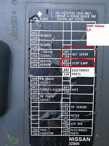 Fuse Box Diagram For 2013 Nissan Altima  Fuse  Free Engine Image For User Manual Download