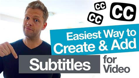 Easily Add Video Subtitles For Youtube! (and Create