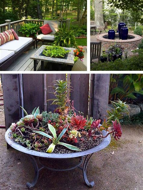 Fire Pit Planter Ideas  The Ideas For The Yard And