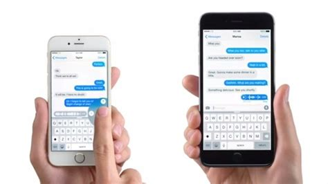 what is messaging on iphone new iphone 6 commercial voice text now running