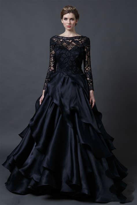 amazing black wedding dress   dresscab