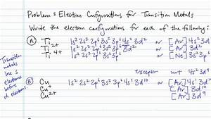 How To Write An Electron Configuration For An Ion