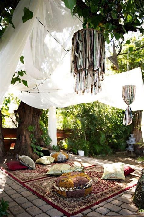 bohemian backyard bohemian backyard summer getaway ideas outdoortheme com
