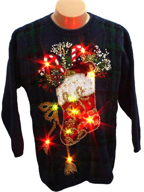 womens light up ugly christmas sweater tiara petites