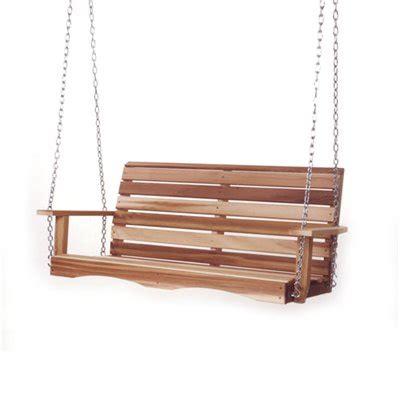 shop   cedar ps porch swing  lowes canada