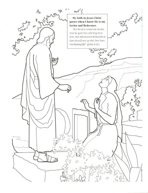 lds primary easter coloring pages coloring page